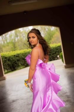 Sherri Hill Purple Size 12 Ruffles Mermaid Dress on Queenly