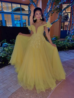 Tarik Ediz Yellow Size 2 Quinceanera Tall Height Ball gown on Queenly