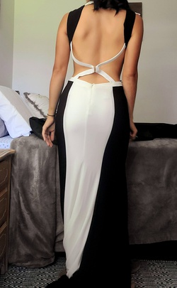 Jovani White Size 2 Cut Out Train Side slit Dress on Queenly