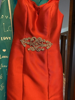 Jovani Red Size 2 Pageant Mermaid Dress on Queenly