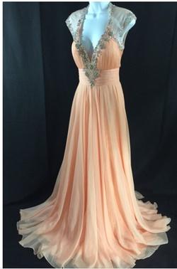 Orange Size 8 A-line Dress on Queenly