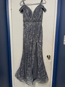 Silver Size 6 A-line Dress on Queenly