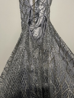 Narianna Silver Size 2 Flare Wedding Guest A-line Dress on Queenly