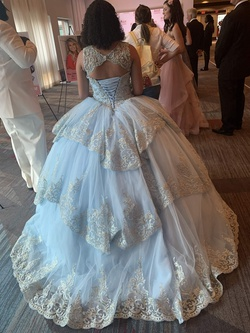 Khloe Simon Multicolor Size 6 Quinceanera Ball gown on Queenly