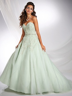 Style 242 Alfred Angelo Green Size 6 Prom Train Dress on Queenly