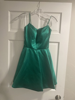 Sherri Hill Green Size 4 Sorority Formal Pageant Cocktail Dress on Queenly