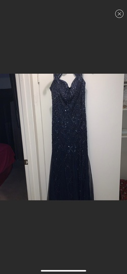Adrianna Papell Blue Size 12 Straight Dress on Queenly