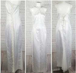 Zum Zum by Niki Livas' White Size 10 Wedding Jewelled Corset A-line Dress on Queenly