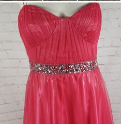 Reign On Pink Size 2 Tulle Sheer Strapless A-line Dress on Queenly