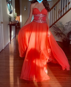 Orange Size 0 A-line Dress on Queenly