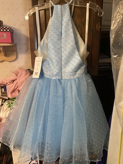 Sherri Hill Blue Size 2 Halter Sorority Formal Cocktail Dress on Queenly