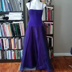 Style 253389L Tadashi Shoji Purple Size 8 Bodycon Jersey Ball gown on Queenly