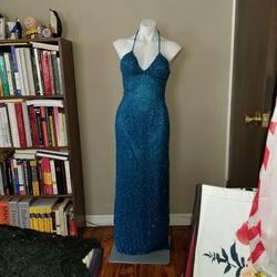 Scala Blue Size 2 Silk Side slit Dress on Queenly