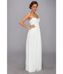 Donna Morgan White Size 10 Tulle Silk A-line Dress on Queenly
