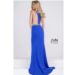 Jovani Blue Size 2 Prom Jvn Straight Dress on Queenly