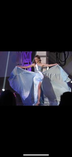 Sherri Hill Blue Size 2 Beaded Top Fun Fashion Mermaid Dress on Queenly