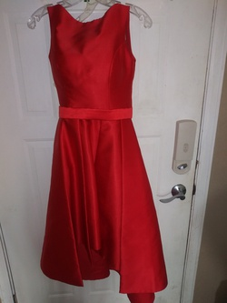 IEENA Red Size 4 Homecoming Wedding Guest Cocktail Dress on Queenly