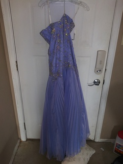 Tony Bowls Purple Size 00 Light Blue Pageant A-line Dress on Queenly