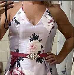 BCX dress Multicolor Size 6 Flare Homecoming Pockets Silk Cocktail Dress on Queenly