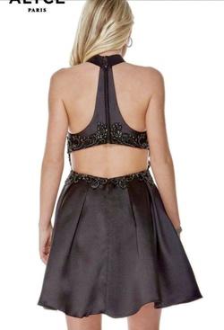 Alyce Paris Black Size 10 Flare Halter Cocktail Dress on Queenly
