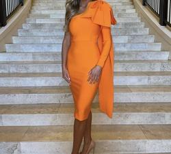 Orange Size 2 Cocktail Dress on Queenly