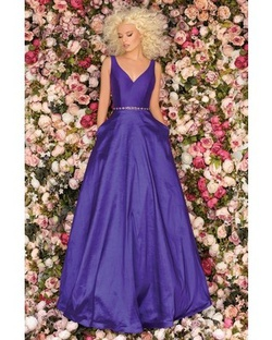 Clarisse Purple Size 12 Ball gown on Queenly