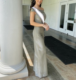 Sherri Hill Nude Size 6 Flare Wedding Guest Jumpsuit Dress on Queenly