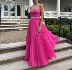 Sherri Hill Pink Size 6 Belt Ball gown on Queenly