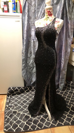 Jasz Couture Black Size 2 Prom Pageant Silver Mermaid Dress on Queenly