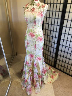 Tiffany Designs Yellow Size 2 Prom Mermaid Dress on Queenly