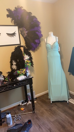 Tony Bowls Blue Size 2 Train Dress on Queenly