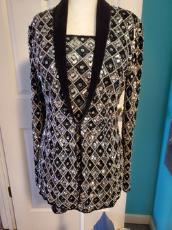Mac Duggal Black Size 6 Interview Long Sleeve Fun Fashion Cocktail Dress on Queenly