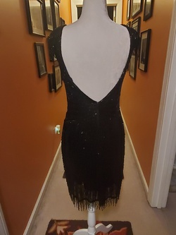 Ashley Lauren Black Size 6 Backless Mini Cocktail Dress on Queenly