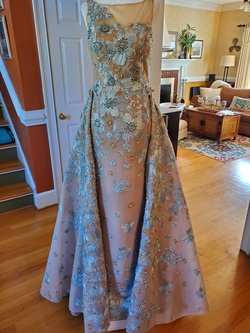Sherri Hill Nude Size 4 Mini Straight Dress on Queenly