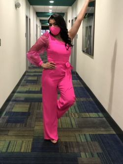 Lilly Pulitzer Hot Pink Size 4 Interview Fun Fashion Jumpsuit Dress on Queenly