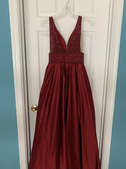 Vienna Red Size 2 Prom Maroon Ball gown on Queenly