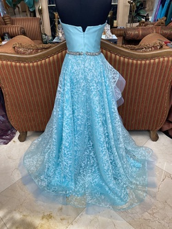 Terani Couture Blue Size 4 Quinceanera Straight Dress on Queenly