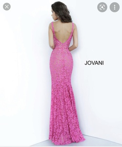 Jovani Pink Size 4 Pageant Straight Dress on Queenly