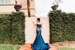 Jovani Blue Size 0 Pageant Jovanni Mermaid Dress on Queenly