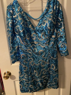 Alyce Paris Blue Size 12 Wedding Guest Fun Fashion Cocktail Dress on Queenly
