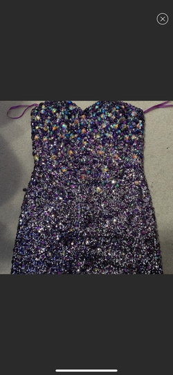 Vienna Purple Size 12 Sweetheart Tall Height Cocktail Dress on Queenly