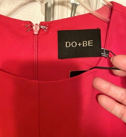 Do+be Orange Size 6 Wedding Guest Straight Dress on Queenly
