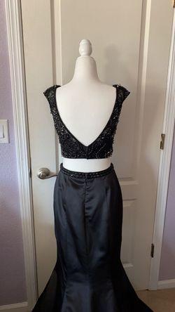 Sherri Hill Black Size 6 Prom Train Mermaid Dress on Queenly