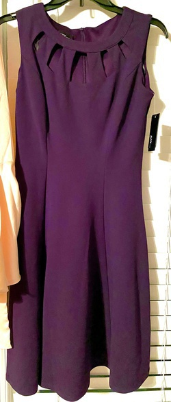Alyx Purple Size 4 Wedding Guest Keyhole Cocktail Dress on Queenly