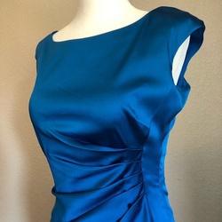 Ralph Lauren Blue Size 2 Cap Sleeve Wedding Guest Prom Cocktail Dress on Queenly