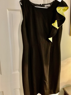 Calvin Klein Multicolor Size 10 Wedding Guest Black Cocktail Dress on Queenly