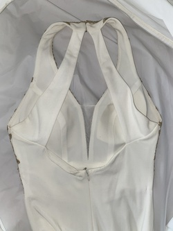 Blondie Nites White Size 2 Jersey Side slit Dress on Queenly