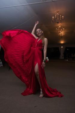 Tarik Ediz Red Size 6 Prom Side slit Dress on Queenly