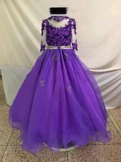 Purple Size 6 Train Dress on Queenly
