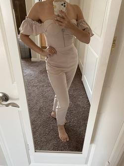 Lavish Alice Nude Size 4 Sorority Formal Nightclub Jumpsuit Dress on Queenly